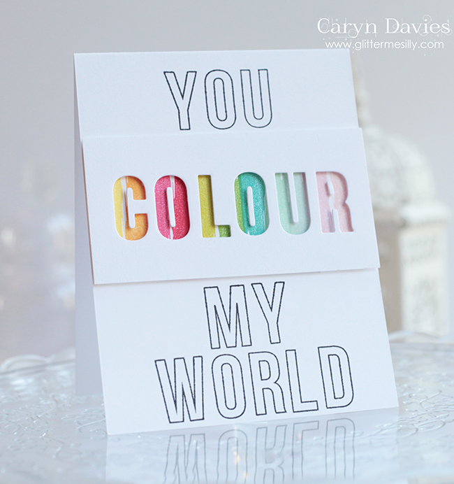 you colour my world copy